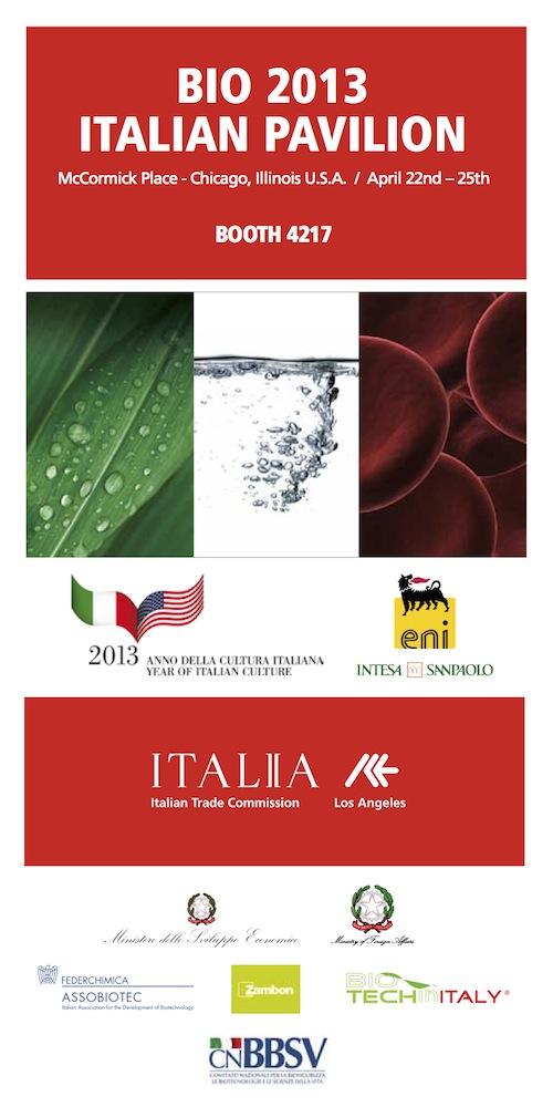 Italian Pavilion at BIO 2013 Chicago - List of Exhibitors